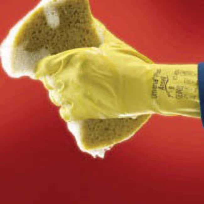 Ansell™ Universal™ 87-650 Series Yellow Natural Rubber Latex Immersion Gloves: Home
