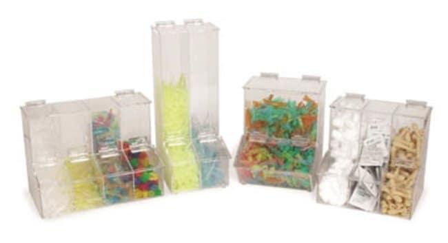 Fisherbrand™Acrylic 3-Compartment Dispensing Bin Dimensions: 217W x 217mmH Bins