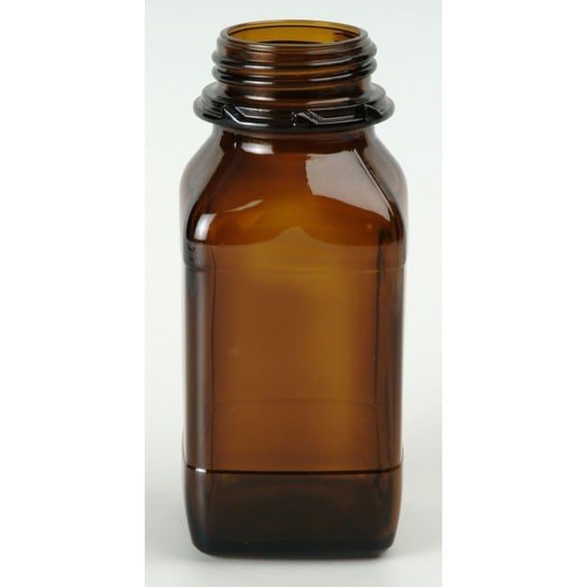 Pohli™Weithalsflaschen, braun Braun Amber; Kapazität: 1000ml Runde Glasflaschen mit enger Öffnung