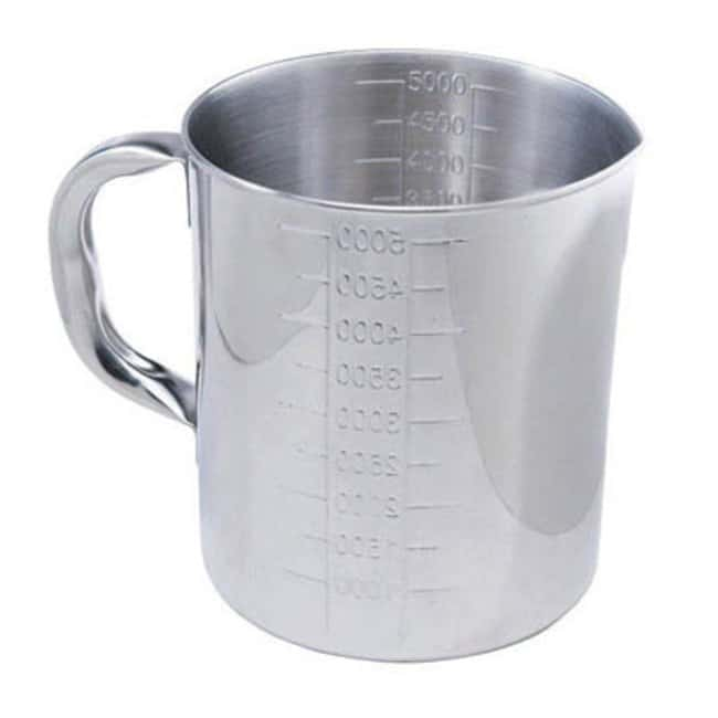 Cole-Parmer™Stainless Steel Pouring Beaker Capacity: 5000mL Cole-Parmer™Stainless Steel Pouring Beaker