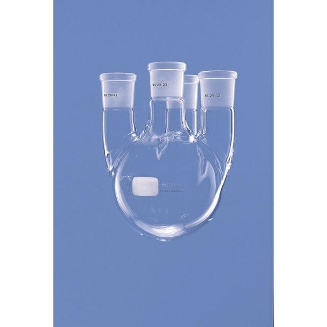 Lenz Laborglasinstrumente™DURAN™ Four-neck Round Bottom Flasks with Parallel Side Necks Capacity: 1000mL Lenz Laborglasinstrumente™DURAN™ Four-neck Round Bottom Flasks with Parallel Side Necks