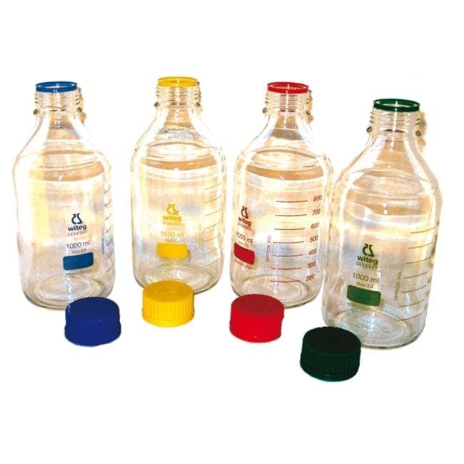 Witeg™Borosilicate Glass Laboratory Bottles, Wide Mouth Capacity: 2000mL Witeg™Borosilicate Glass Laboratory Bottles, Wide Mouth