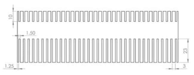 Fisherbrand™ Combs for Verti-Gel Maxi, 2-Gel Standard Vertical Gel Electrophoresis, 0.75mm Thick  Fisherbrand™ Combs for Verti-Gel Maxi, 2-Gel Standard Vertical Gel Electrophoresis, 0.75mm Thick