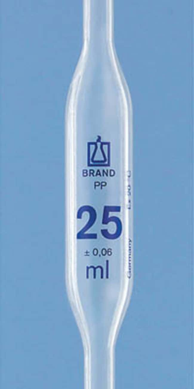 BRAND™ Polypropylene Volumetric Bulb Pipets Capacity: 25mL products