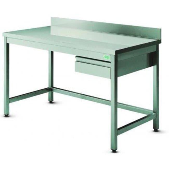Arex Professional Equipment™Paillasse en acier inox avec dossier: Desks and Workstations Protection plan de travail
