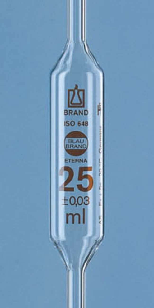 Brand™Blaubrand™ Eterna™ Class AS Bulb Pipets Capacity: 25mL products