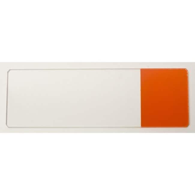Rogo Sampaic™Glass Slides Material: Glass; Cut Edges; Color: Orange Rogo Sampaic™Glass Slides