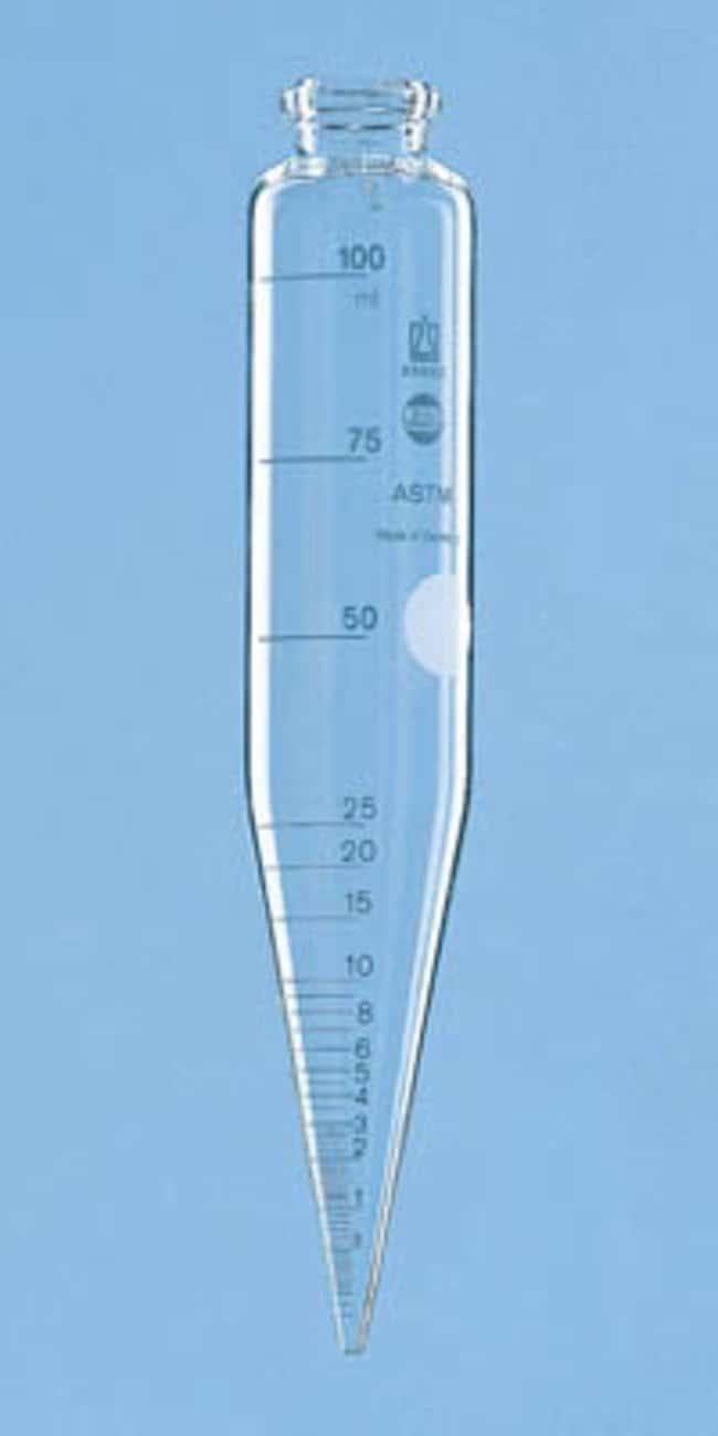 BRAND™BLAUBRAND™ Borosilicate Glass Centrifuge Tube Diameter: 91mm BRAND™BLAUBRAND™ Borosilicate Glass Centrifuge Tube