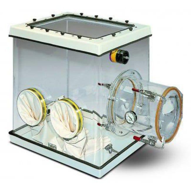 Plas Labs™BOITE A GANTS COMPACTE 320 L Chambre en acrylique transparent volume utile 71 Exterior Depth: 61cm Glove Boxes