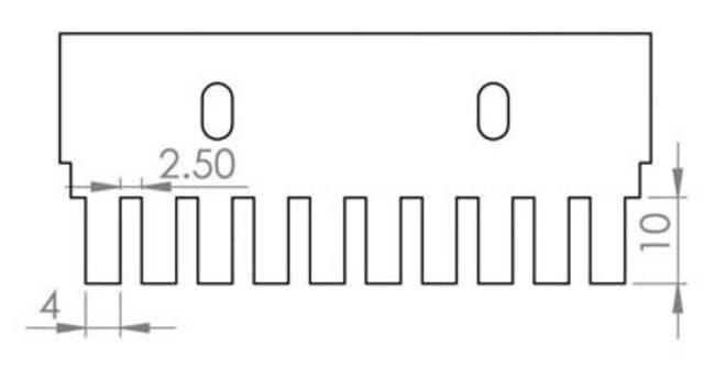 Fisherbrand™Peine, grosor de 0.75 mm Tamaño de muestras: 14μL; número de pocillos: 10 Ver productos