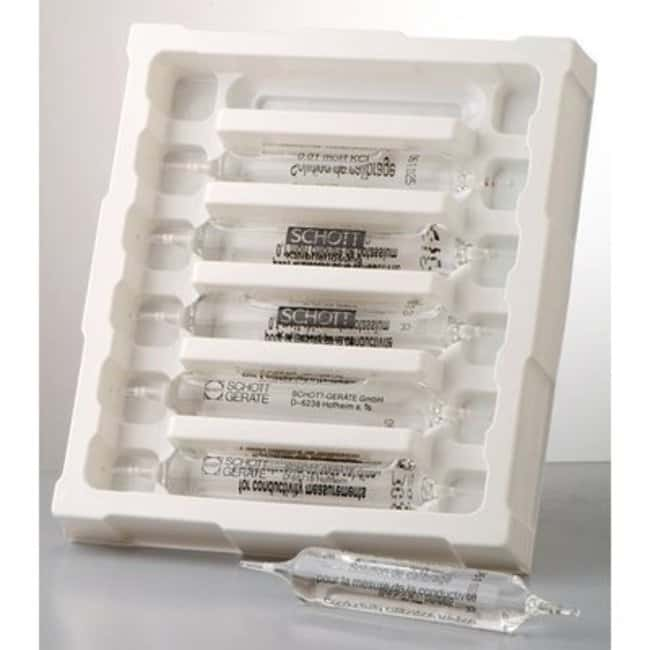 SI Analytics™ Solution pour test de conductivité au chlorure de potassium Quantité : Ampoules 3 x 6 SI Analytics™ Solution pour test de conductivité au chlorure de potassium