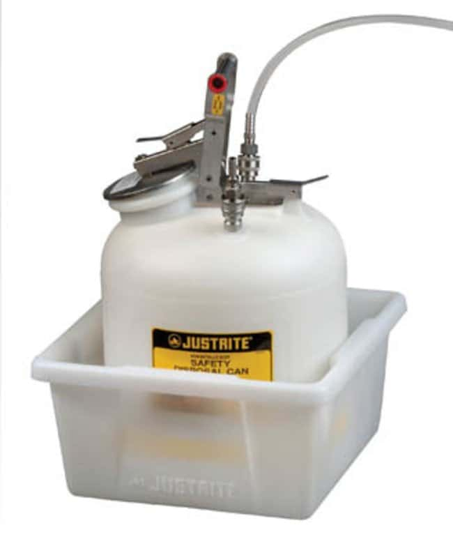 Justrite Disposal Can Spill Basin  379L x 379W x 194mm H:Testing and Filtration