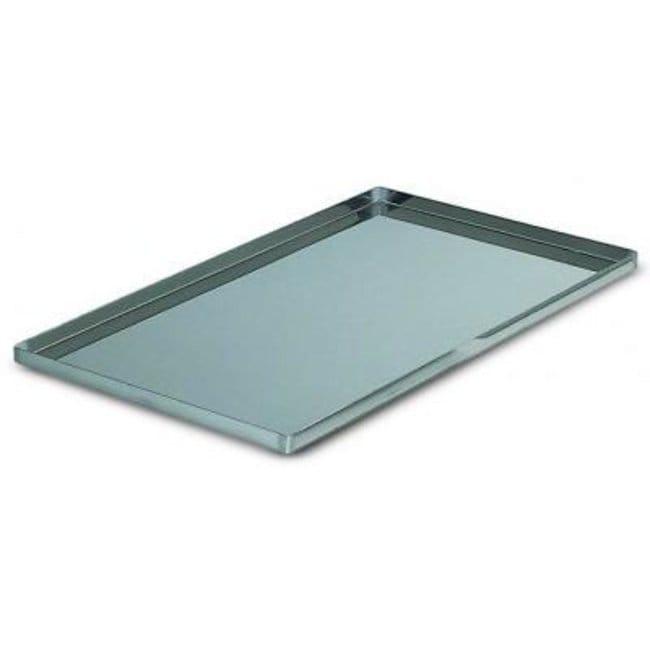 De Buyer™Plateau culinaire en acier inox, bords droits, 1mm d'épaisseur Dimensions: L 400xl 300xH 20mm voir les résultats