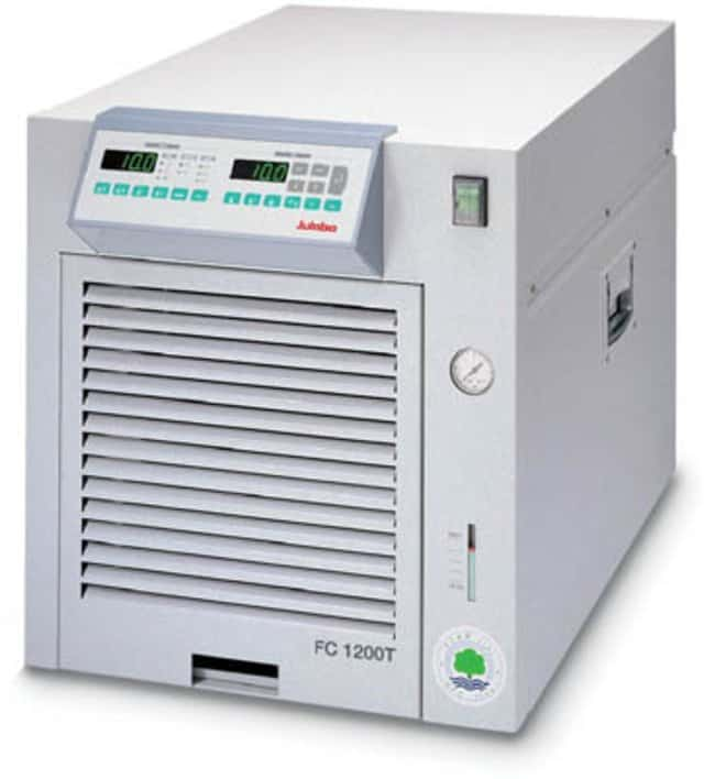 Julabo™FC Series Recirculating Cooling Baths with Air Compressor Capacity: 8 to 11L; Range: -10 to 80deg.C; Pump Flow Rate:28L/min.; Cooling Capacity: 0.15kW at -10deg.C, 0.55kW at 5deg.C, 0.75kW at 10deg.C, 1.1kW at 20deg.C Julabo™FC Series Recirculating Cooling Baths with Air Compressor