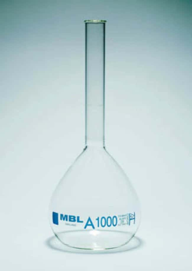 MBL™ Borosilicate Glass Class A Col Lisse Capacity: 200mL; Stopper: Rubber MBL™ Borosilicate Glass Class A Col Lisse