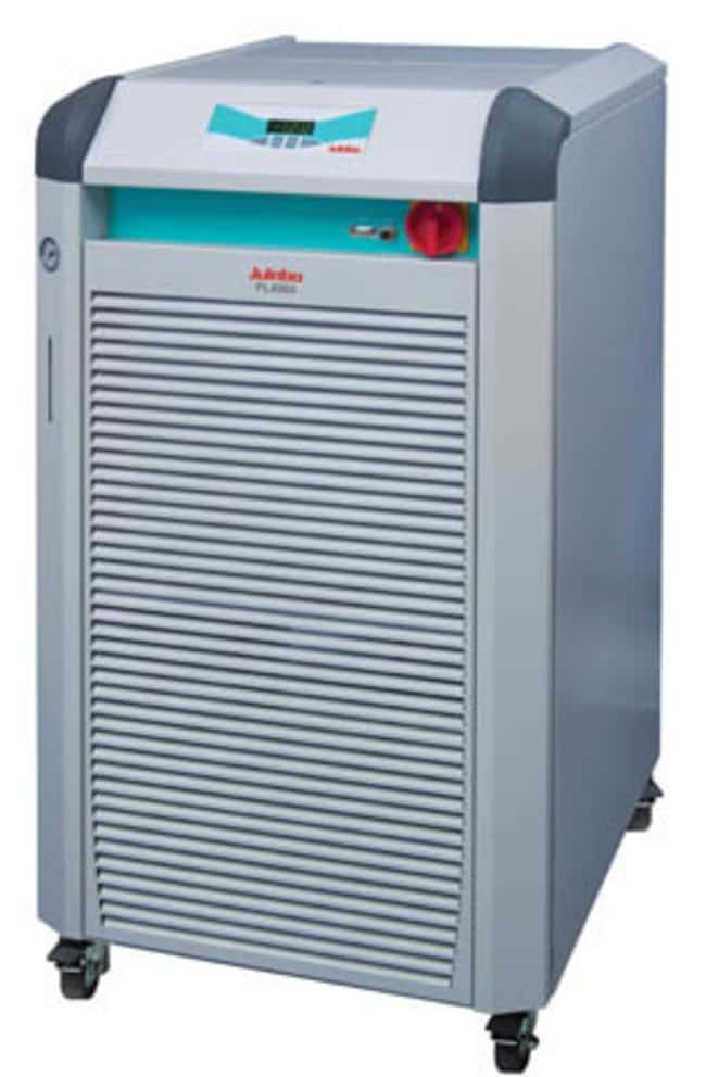 Julabo™FL Series Recirculating Cooling Baths with Air Compressor Capacity: 24 to 30L; Range: -20 to 40deg.C; Pump Flow Rate:40L/min.; Cooling Capacity: 0.65kW at -20deg.C, 1.5kW at -10deg.C, 2.4kW at 0deg.C, 3.4kW at 10deg.C, 4kW at 20deg.C Julabo™FL Series Recirculating Cooling Baths with Air Compressor