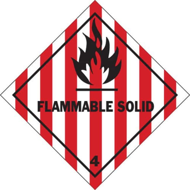 Brady FLAMMABLE SOLID Hazardous Material Shipping Labels FLAMMABLE SOLID