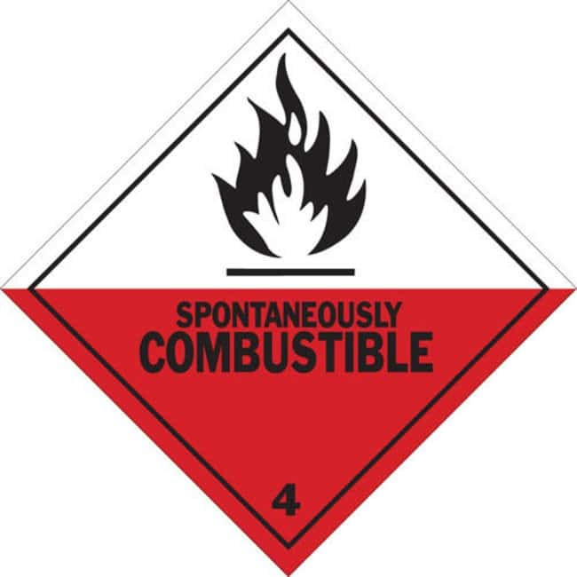 Brady SPONTANEOUSLY COMBUSTIBLE Hazardous Material Shipping Labels SPONTANEOUSLY