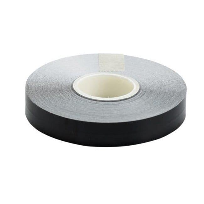 Brady Marking Tape Roll: Adhesive Vinyl, Solid Color, Black Adhesive Vinyl,