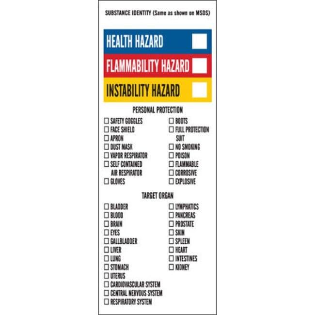 Brady Chemical, Biohazard & Hazardous Material Labels - Adhesive Vinyl