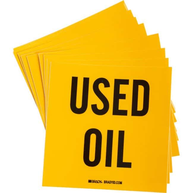 Brady Waste Disposal Labels - Adhesive Vinyl USED ABSORBENTS:Gloves, Glasses