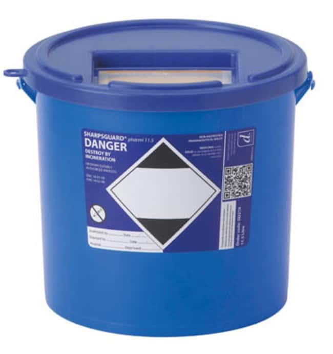 Sharpsguard™ pharmi 11.5 Multi-Purpose 10.91L Waste Container Dimensions: 176L x 285mmH; Capacity: 5L; Color: blue Sharps Disposal Containers