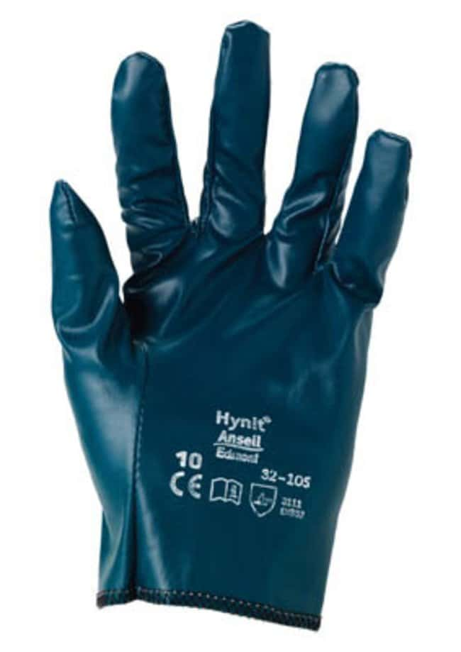 Ansell™ Hynit™ 32-105 Series Blue Nitrile Medium Weight Gloves Solid back; Size: 10 Ansell™ Hynit™ 32-105 Series Blue Nitrile Medium Weight Gloves
