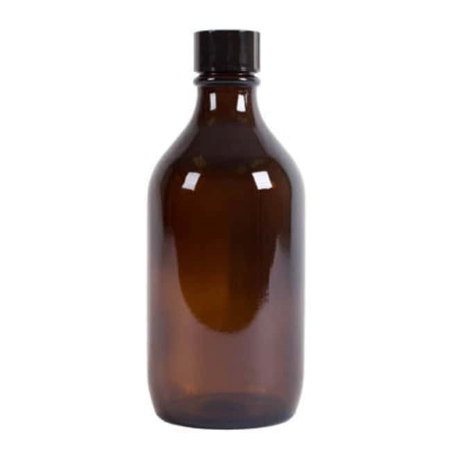 Azpack™Amber Glass Narrow Neck Winchester Bottles with Black Polycone Caps Capacity: 500mL; Dimensions: 82W x 188mmH Azpack™Amber Glass Narrow Neck Winchester Bottles with Black Polycone Caps