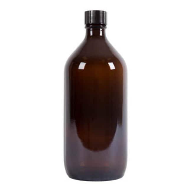 Azpack™Amber Glass Narrow Neck Winchester Bottles with Black Urea PVDC-lined Caps: Bottles Bottles, Jars and Jugs