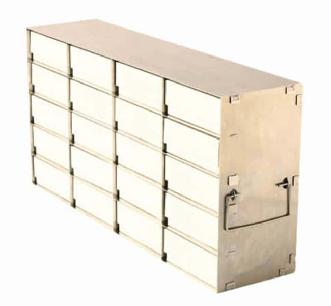 Tenak™ ECO AluRack for Upright Freezers, 32 mm Box Height Holds: 18 Boxes (6 x 3) Ver productos