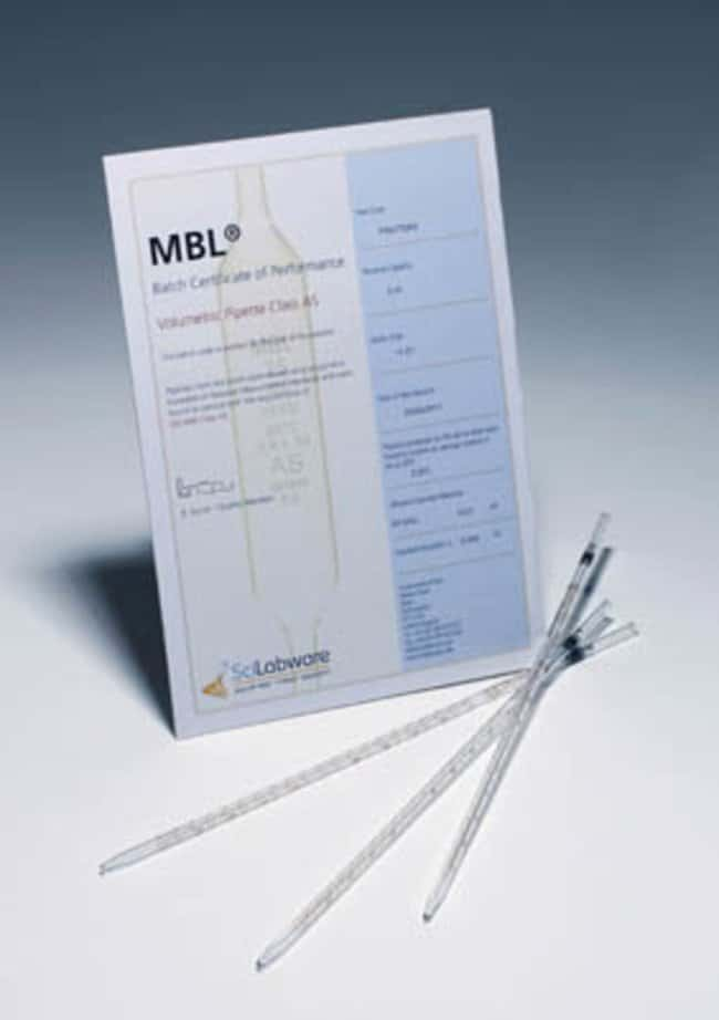 MBL™ Type 2 Class AS, Works Certified Graduated Pipettes: Food and Beverage Specimen Collection and Media Food and Beverage Testing