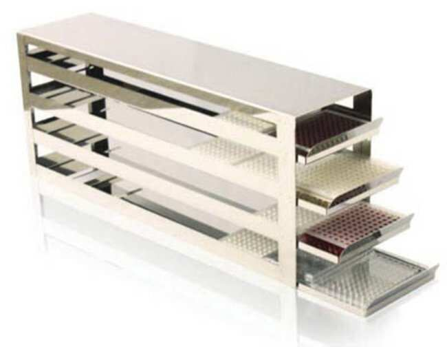 Tenak™Eco AluRack for Microtiter Plates for Upright Freezers Holds: 112 Plates Tenak™Eco AluRack for Microtiter Plates for Upright Freezers