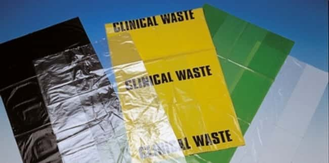 Polyethylene Biohazard Waste Bags: Bags Gloves, Glasses and Safety