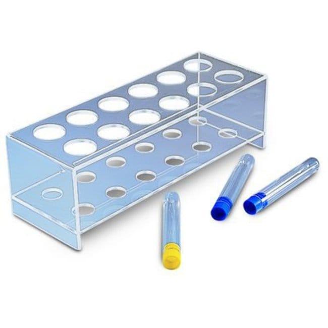 Kartell™PMMA (Plexiglas) Two-Tier Test Tube Racks Size: 12 x 35mm holes Kartell™PMMA (Plexiglas) Two-Tier Test Tube Racks