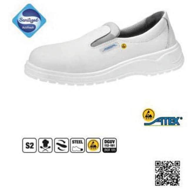 ABEBA™Zapatos de seguridad tipo mocasín luz ESD de cuero blanco Size: 46 ABEBA™Zapatos de seguridad tipo mocasín luz ESD de cuero blanco