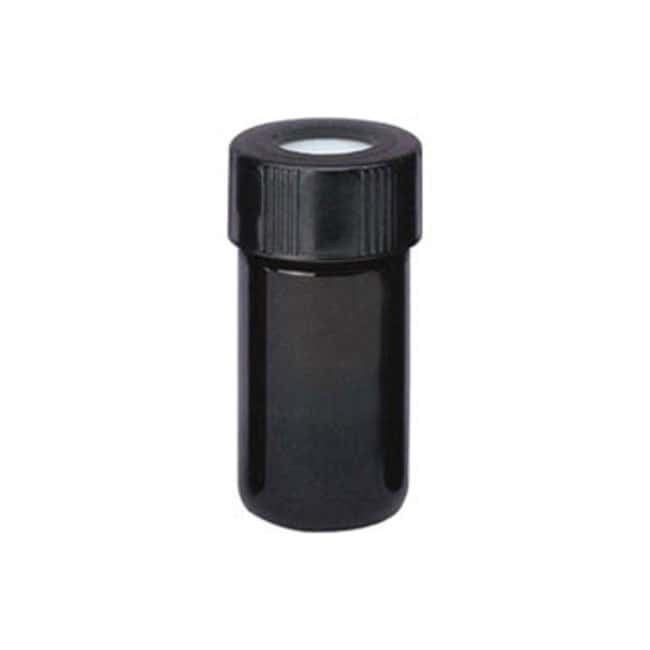 DWK Life Sciences Wheaton™ V Vial™ with Open-Top Screw Cap PTFE/silicone liner; Amber; (0.5 dr.) 2mL; Cap size: 20-400; Dia. X H: 20 X 44mm DWK Life Sciences Wheaton™ V Vial™ with Open-Top Screw Cap