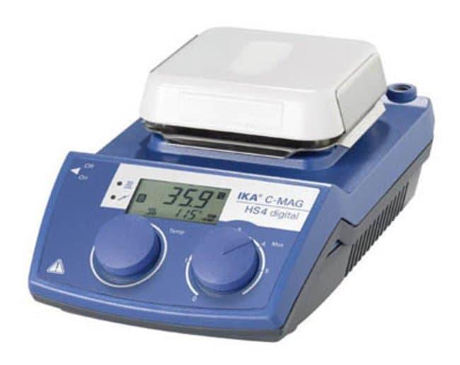 IKA™Digital Magnetic Hot Plate Stirrer, 50°C to 500°C, Ceramic C-MAG HS 4 digital; 150W x 105mmH Combination Stirring Hotplates
