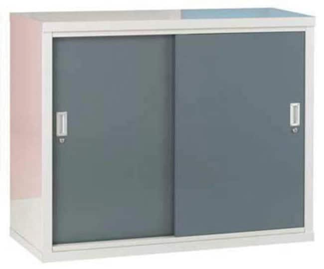 ManutanSliding door cabinet, green doors, 1020mm x 1220mm x 460mm  Laboratory Cabinets