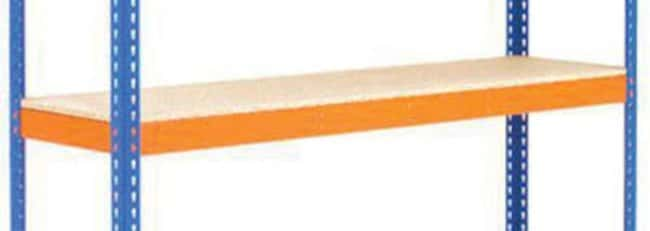 ManutanExtra shelf for extra heavy duty shelving, orange, 2134mm x 1220mm  Shelving Parts and Accessories