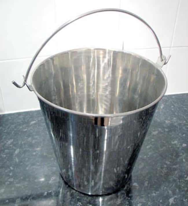 Nickel Electro™ Stainless Steel Bucket with Handle Capacity, Metric: 8L Janitorial Buckets and Wringers