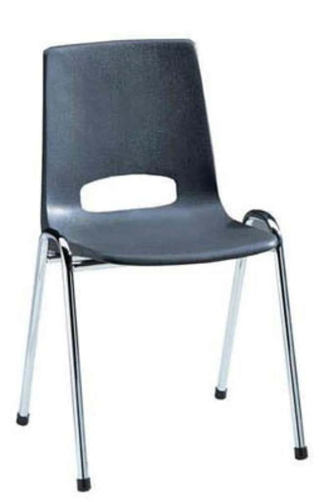ManutanStacking chair, polypropylene, Ekwo, silver/blue  Laboratory Benches and Tables