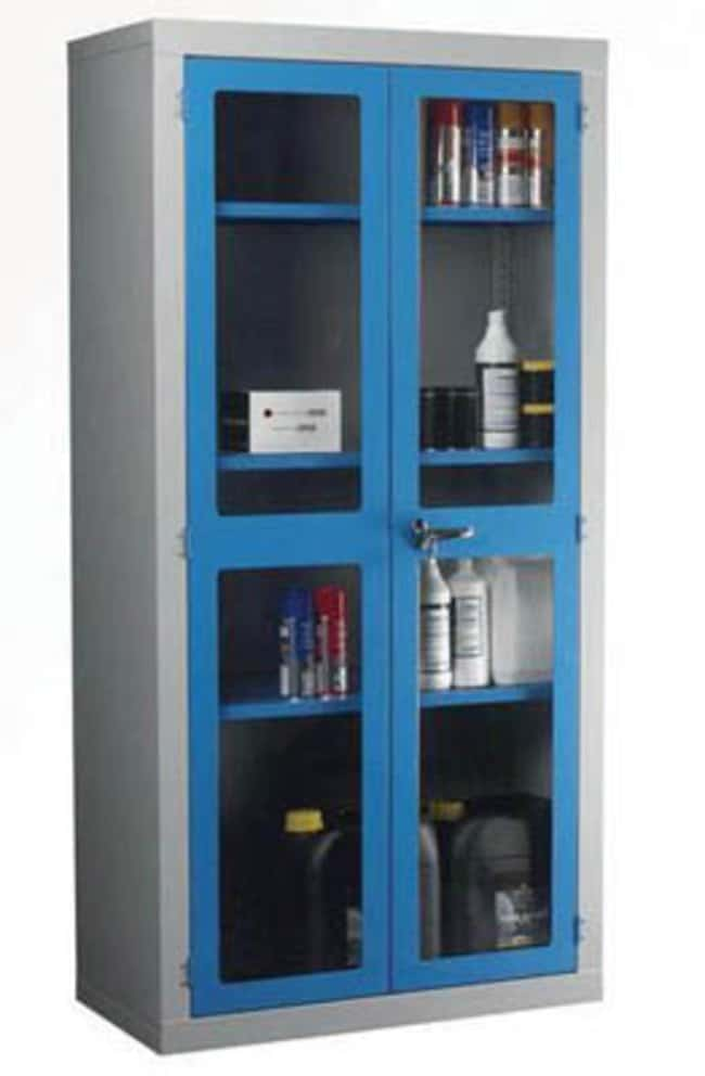 Manutan Polycarbonate grey door cabinet with three shelves,1830mm x 915mm x 457mm  Laboratory Cabinets