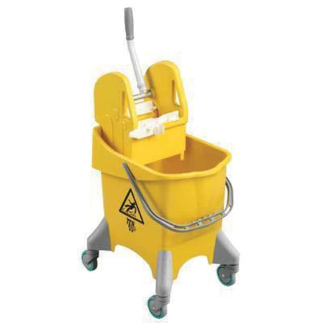 Key Industrial Equipment™ Bucket with wringer, 30 Litre, yellow