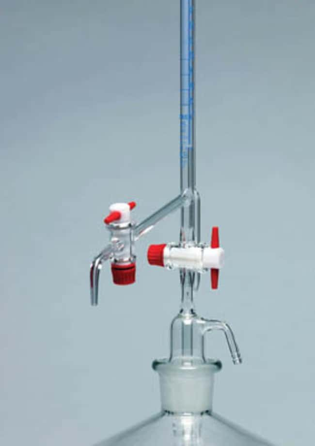 Pyrex™ Borosilicate Glass Automatic Burette with Intermediate Stopcock: pH and Electrochemistry Thermometers, Timers and pH
