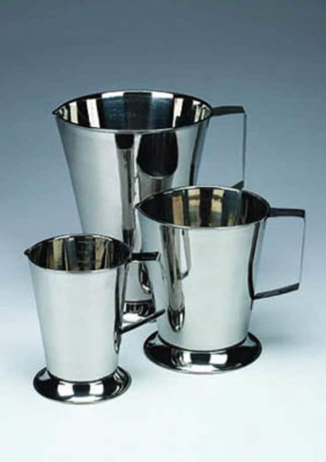 Nickel Electro™Stainless Steel Jugs: Beakers   50mL, 250mL, 500mL   Fisher Scientific Beakers, Bottles, Cylinders and Glassware