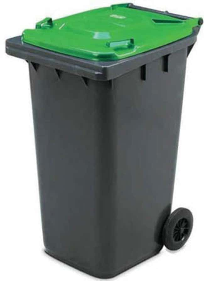 Key Equipment Outdoor Wheeled Bins Ekwo 240 Litre Capacity Grey Green
