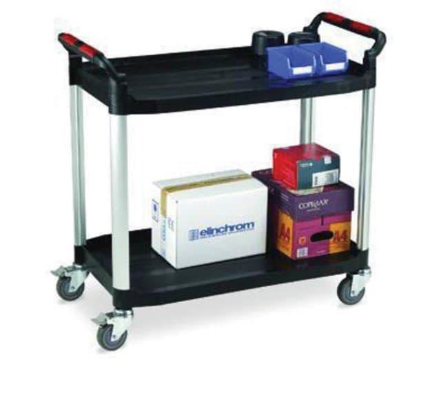 ManutanUtility trolley, plastic, two shelf, 120kg capacity  General Purpose Dollies and Trucks