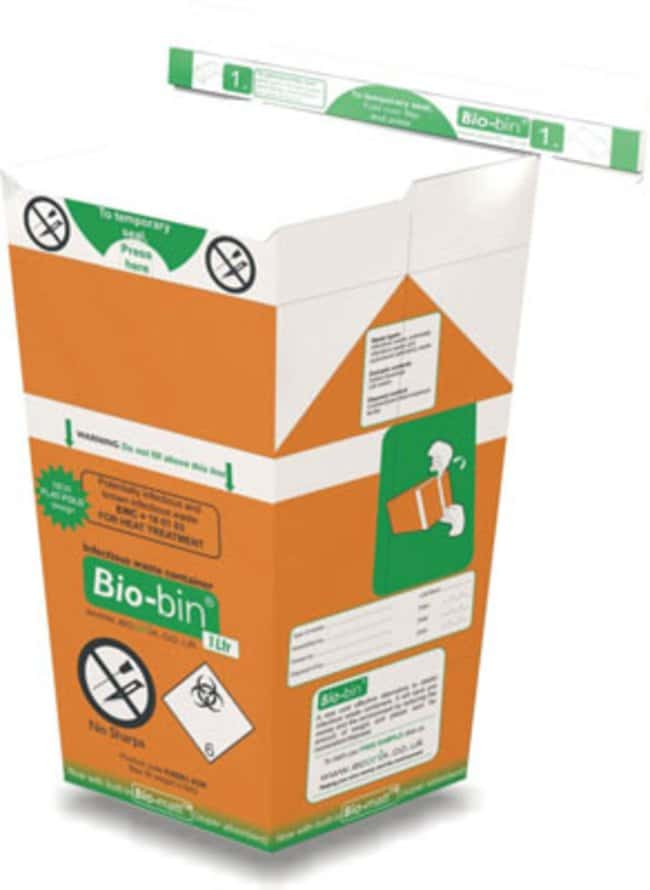 Econix™1L Bio-bin™ Waste Bins: Biohazardous Waste Disposal Containers Biohazard and Waste Disosposal Containers