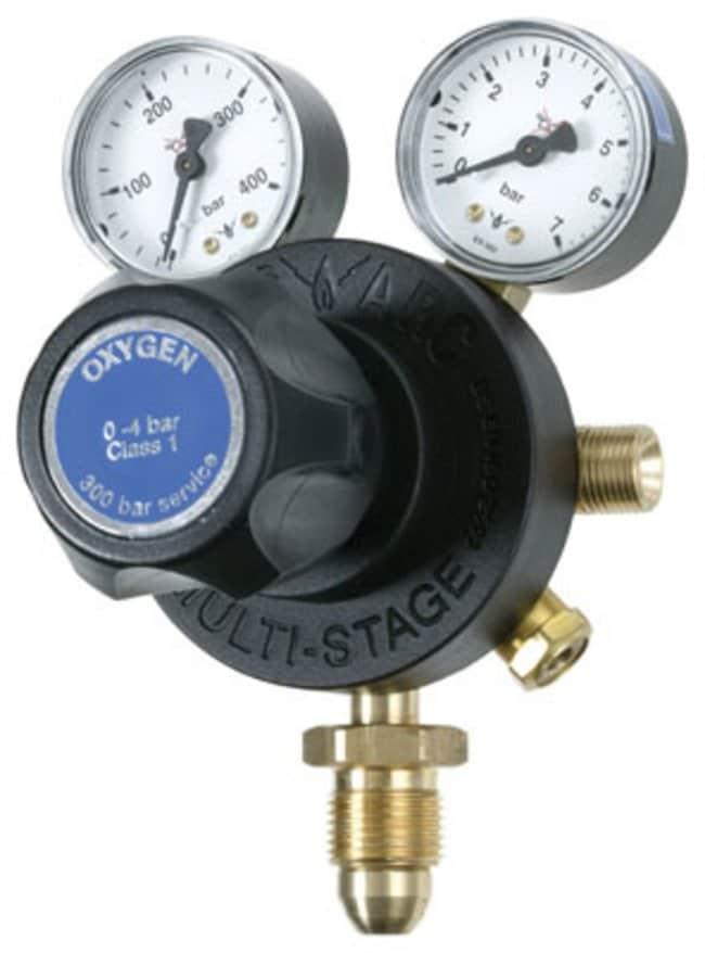 Gas Arc™Tech-Master Multi-Stage Base Entry Gas Regulator Gases Measured: Oxygen; Number of Stages: Multi; Flow Rate: High Gas Regulators