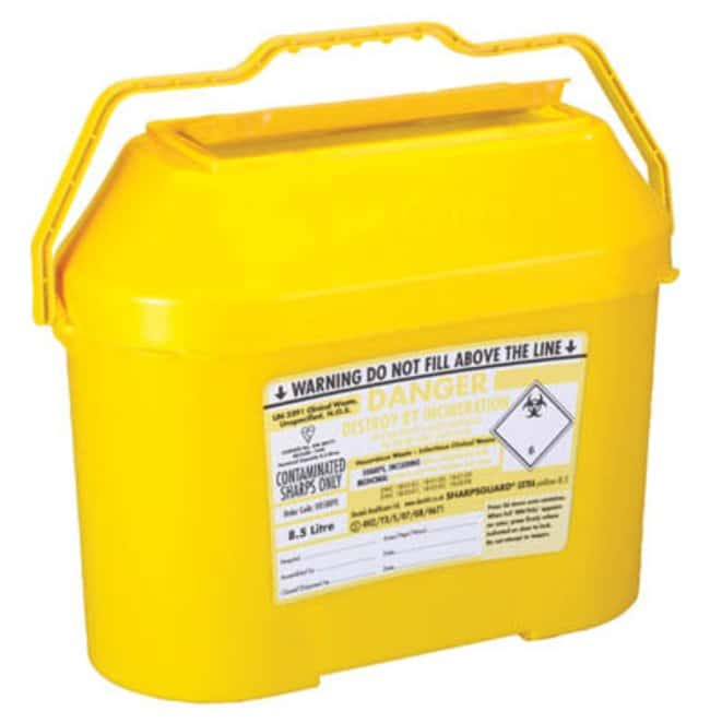 Daniels Healthcare™Extra Polypropylene Sharp Bins Capacity: 8.5L Sharps Disposal Containers